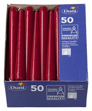 Duni Leuchtkerzen Bordeaux 250 x Ø 22 mm 50er Packung