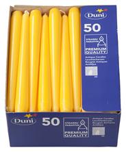 Duni Leuchtkerzen Gelb 250 x Ø 22 mm 50er Packung