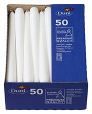 Duni Leuchtkerzen Weiß 250 x Ø 22 mm 50er Packung