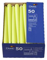 Duni Leuchtkerzen Kiwi 250 x Ø 22 mm 50er Packung