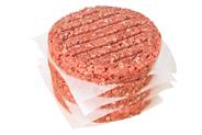 Icehouse Hamburger Patty tiefgefroren, roh, gewürzt, 50 Stück à 100 g, aus Rindfleisch 5 kg Karton