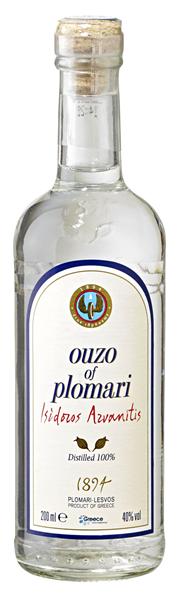 Plomari Ouzo 40 % Vol. 0,2 l Flasche