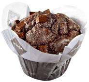 Rioba Double Chocolate Muffins 12 Stück à 100 g, verzehrfertig 3 x 1,2 kg Packungen