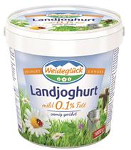 Weideglück Landjoghurt 0,1 % Fett, mild 1 kg Becher