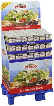Patros in Öl Käse aus pasteurisierter Kuhmilch in reinem Pflanzenöl, 45 % Fett i.Tr. 105 x 300 g Tiegel