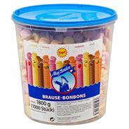 Ahoj-Brause Bonbons Zitrone-, Orangen-, Himbeer- und Cola-Geschmack, 1000 Stück 1,8 kg Dose