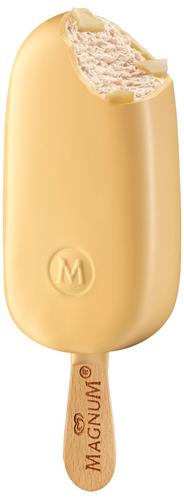 Langnese Magnum White Vanilleeis umhüllt von weißer Schokolade 20 x 120 ml
