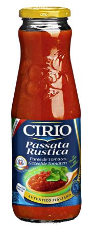 Cirio Passata Rustica Al Basilicum passierte Tomaten mit Basilikum 720 ml Flasche
