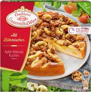 Conditorei Coppenrath & Wiese Altböhmischer Apfel Wallnusskuchen Ø26 cm, individuell portionierbar, verzehrfertig, ungeschnitten 1,1 kg Packung