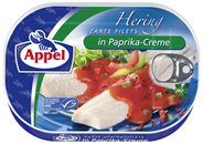 Appel Zarte Heringsfilets mit Paprika 10 x 200 g Dosen