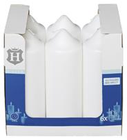 H-Line Stumpenkerzen Weiß 200 x Ø 68 mm 6 Stück Karton