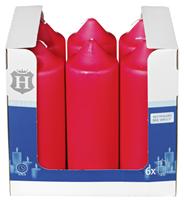 H-Line Stumpenkerzen Rot 200 x Ø 68 mm 6 Stück Karton