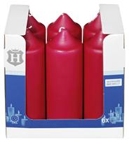 H-Line Stumpenkerzen Bordeaux 200 x Ø 68 mm 6 Stück Karton