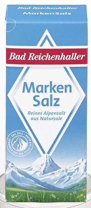 Bad Reichenhaller Markensalz feinkörnig 24 x 500 g Packungen