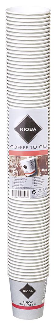 Rioba Coffee-to-go Becher 0,1 l 80 Stück