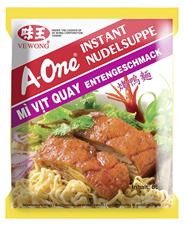 A-One Instantnudeln geröstete Ente Nudelnest und Suppen-Gewürzpulvermischung in der jeweiligen Geschmacksrichtung, ergibt ca. 500ml Nudelsuppe 30 x 85 g Beutel