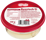 Nadler Russisch Ei in Aspik mit Fleischsalat mit Zucker und Süßungsmittel 200 g Becher