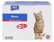 aro Pouch Katze mit Rind 12 x 100 g Beutel