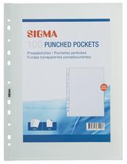 Sigma Prospekthüllen Premium, DIN A4, 100 Stück