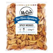 McCain Spicy Potato Wedges tiefgefroren, Kartoffelecken, vorgebacken 2,5 kg Beutel