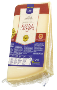 METRO Chef Grana Padano Hartkäse, mind. 32 % Fett i. Tr., 10 Monate gereift - ca. 1 kg Stücke