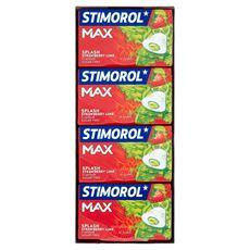 Stimorol Max Splash Strawberry Lime Flavour Sugar Free 16 x 22 g