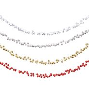 Guirlande ijzer klok 4 kleuren assorti 120 cm