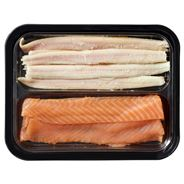 Gerookte paling & zalm duo party pack 400 gram