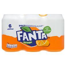 Fanta Orange zero blik 4 x 6 x 33 cl