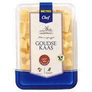 Metro Chef Goudse kaas oud 48+ blokjes 700 gram
