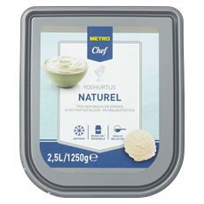 Metro Chef Yoghurtijs naturel 2,5 liter