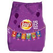 Lay's Fun Mix Pack Chips 15 zakjes 370 gr