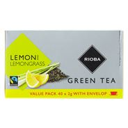 Rioba Green tea lemongrass fairtrade 40 x 2 gram
