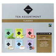 Rioba Thee assortimentsbox classics fairtrade 100 x 2 gram