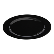Sabert Zwarte Plastic Borden 23 cm 20 stuks