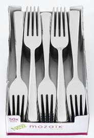 Depa Plastic vork metal look 50 stuks