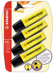 Stabilo Boss Tekstmarker geel 4 stuks