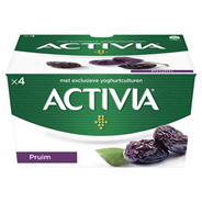 Danone Activia yoghurt pruim 4 x 125 gram