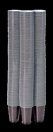 Aro Automaatbeker 180cc bruin/wit 3000 stuks