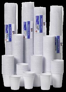 Aro Plastic drinkbeker wit 150cc 30 x 100 stuks