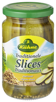 Kühne traditioneel slices zoet zuur 6 x 370 ml