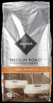 Rioba Koffiebonen Medium roast 8 x 1 kg