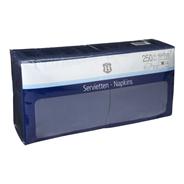 H-Line Servetten 3-laags40x40cm blauw 250 stuks