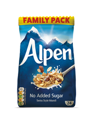 Alpen No Added Sugar 6x1100gr