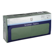 H-Line Servetten 2-laags33x33cm groen 250 stuks