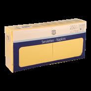 H-Line Servetten 2-laags33x33cm geel 250 stuks