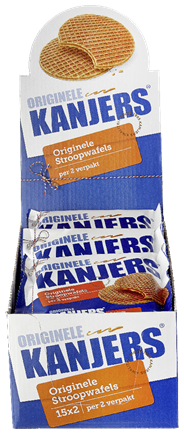 Kanjers Roomboter stroopwafels 2-pack 15 stuks