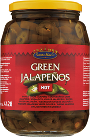Santa Maria Green jalapeños hot 900 gram