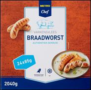 Horeca Select Varkensbraadworst diepvries DU 24 x 85 gram
