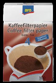 Aro Koffiefilter bruin NR4 100 stuks